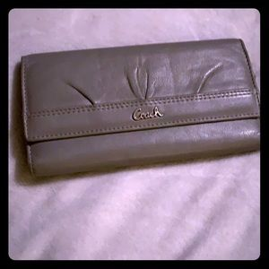 Grey Leather Coach Wallet